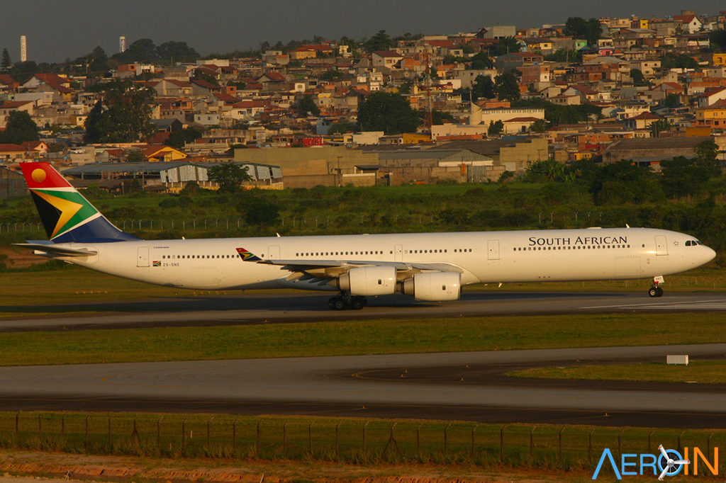 Airbus A340-600 South African