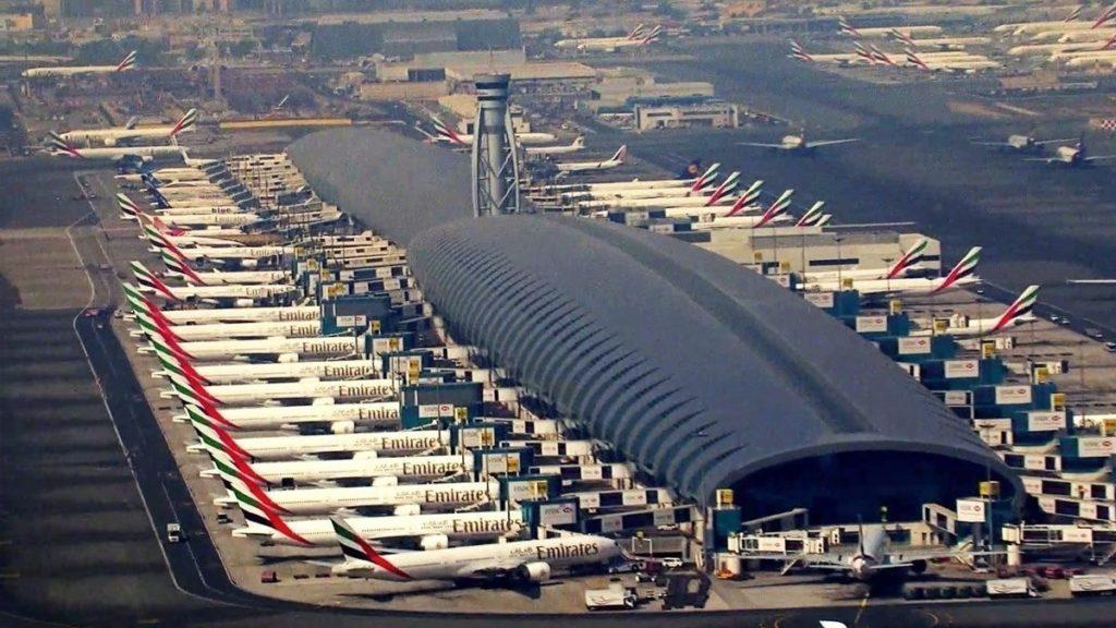 Aeroporto Dubai Vista Aérea