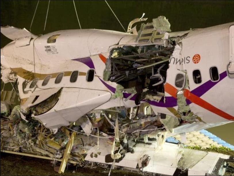 Acidente ATR 72 TransAsia Taiwan Destroços