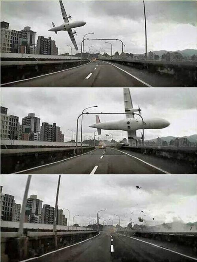 Acidente ATR 72 TransAsia Taiwan Sequência