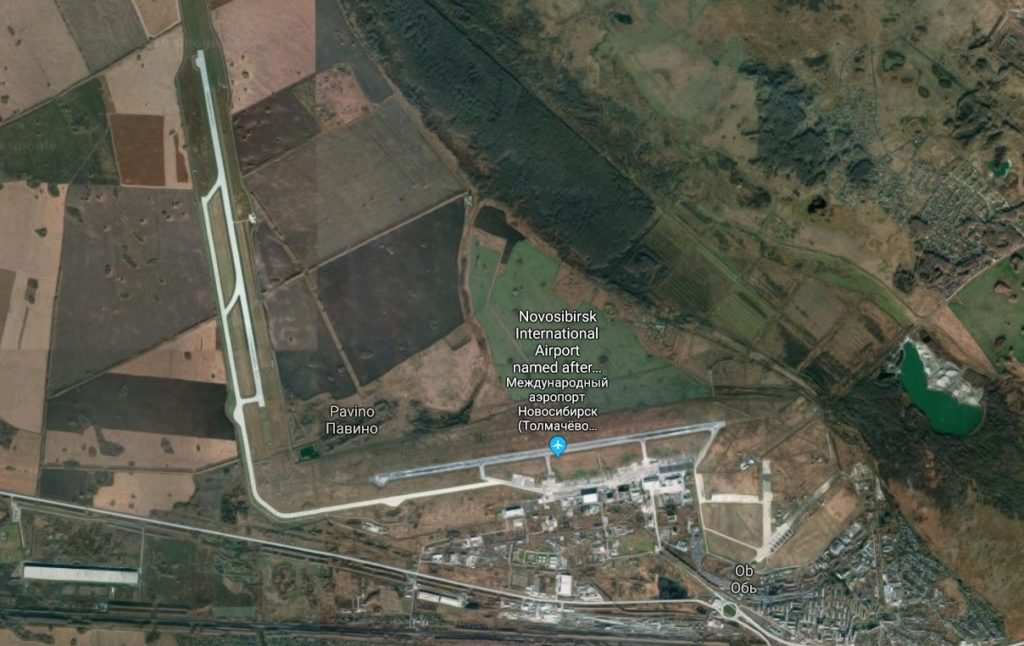 Aeroporto Novosibirsk Tolmachevo S7 Airlines Mapa
