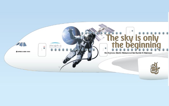 A380 Emirates astronauta