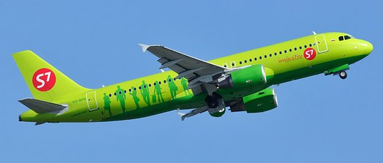 Avião Airbus A320 S7 Airlines