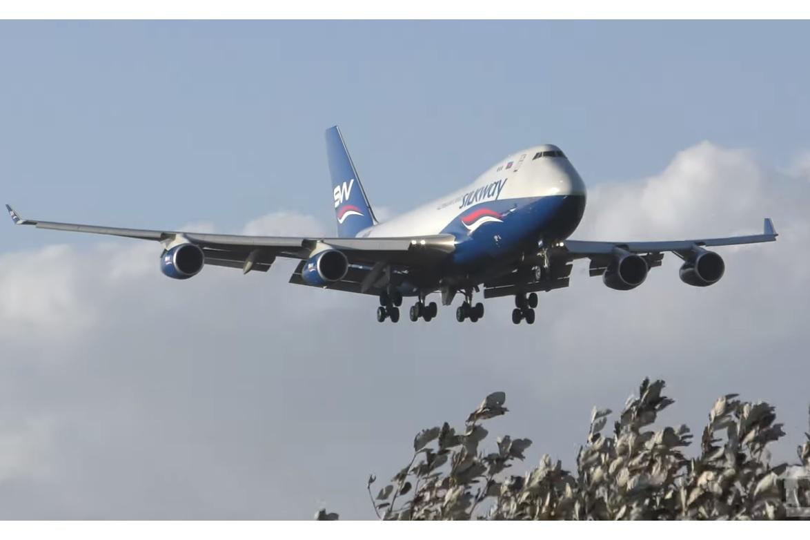 Print Vídeo 747 Silkway Pouso Near Miss Prestwick