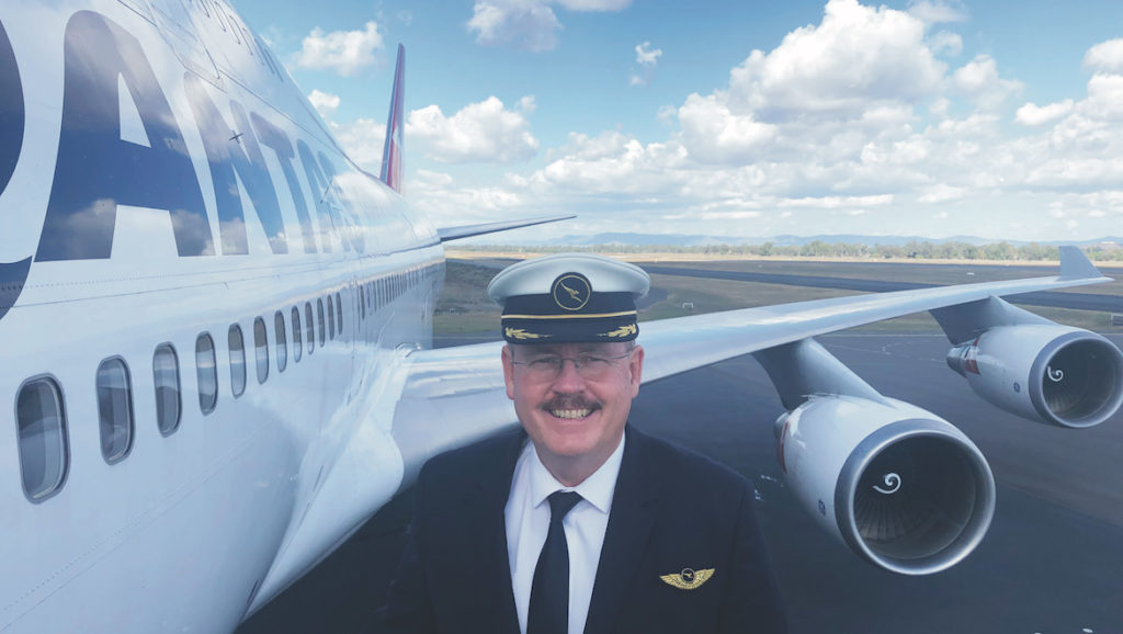 Qantas 747 Volta ao mundo Piloto Capt Greg Fitzgerald