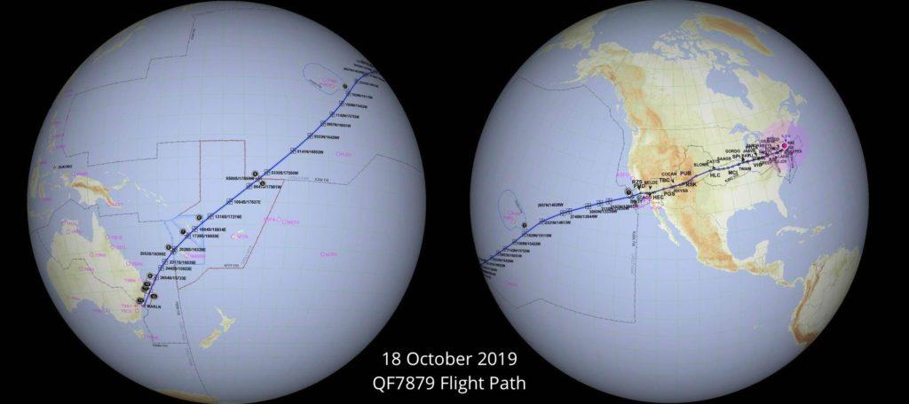 Rota Voo QF7879 Qantas Mais Longo do Mundo