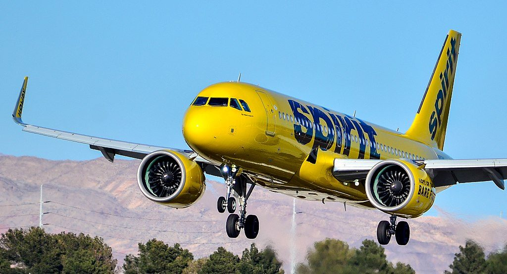 Avião Airbus A320neo Spirit Airlines