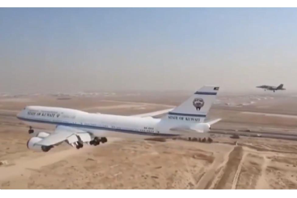 Vídeo 747-8I Kuwait Visão Aérea