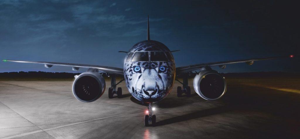 Avião Air Astana E190-E2 Leopardo das Neves