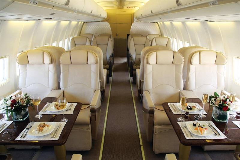 Interior Boeing 757 VIP
