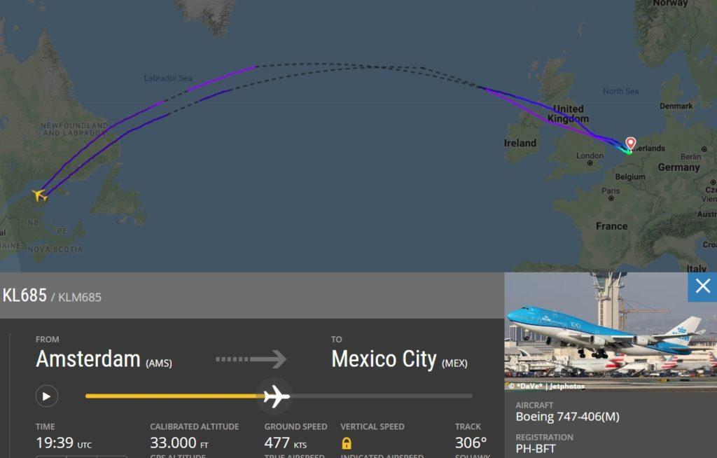 Flight Radar 24 Voo KLM 685 Desvio Nuvem Cinzas