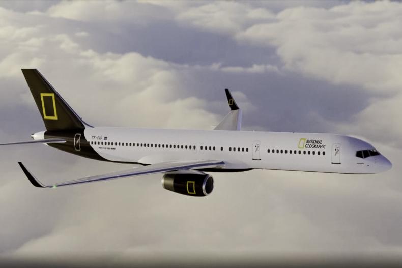 Avião Boeing 757 Icelandair National Geographic
