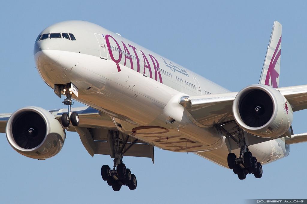 Avião Boeing 777-200 Qatar Airways Flamengo Mundial