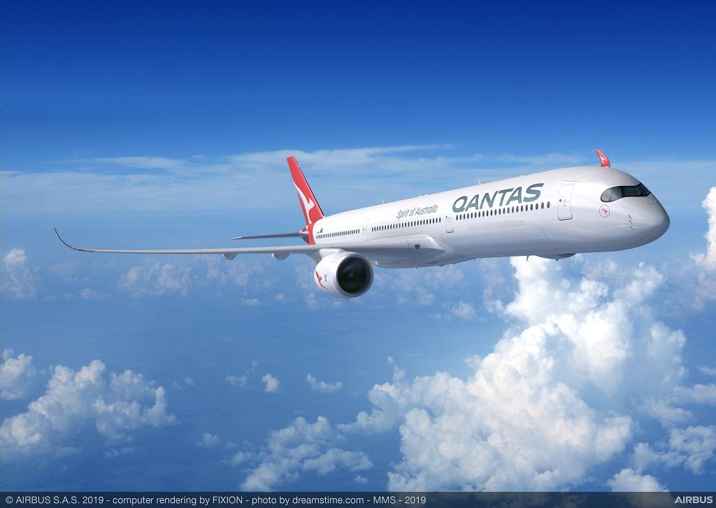 Avião Airbus A350-1000 Qantas