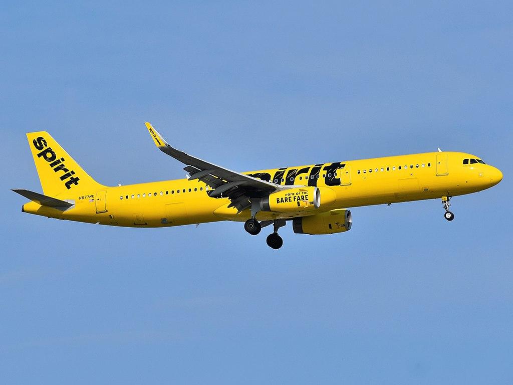 Avião Airbus A321 Spirit Airlines