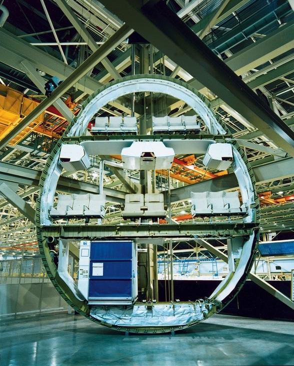 Boeing 747 cross section fuselagem por dentro