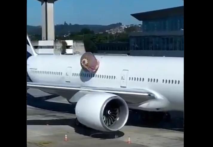 Vídeo Balão Avião LATAM Aeroporto Guarulhos 191209