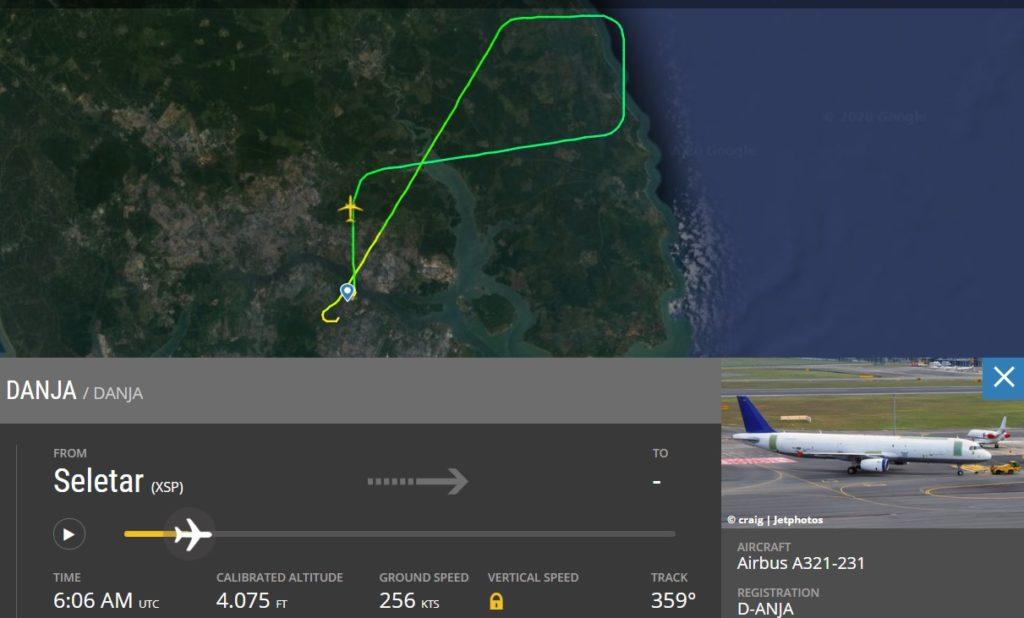 A321P2F Cargueiro Primeiro Voo