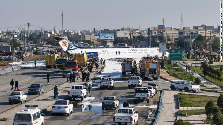 Acidente MD-83 Caspian Airlines Irã Rua bloqueada