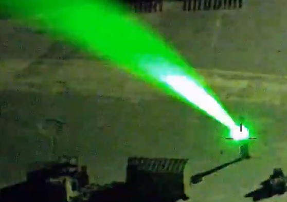 Homem Laser Helicóptero Polícia Flórida