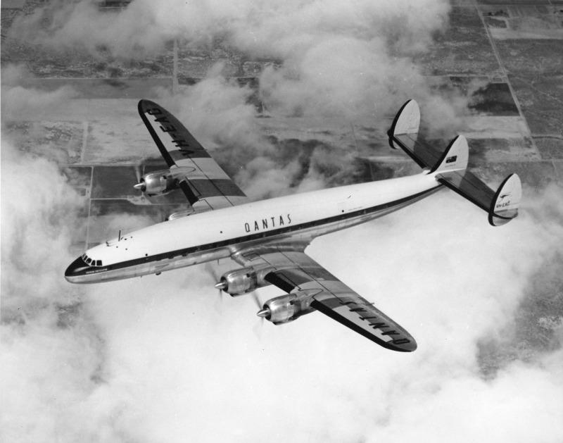 Qantas avião Super Constellation