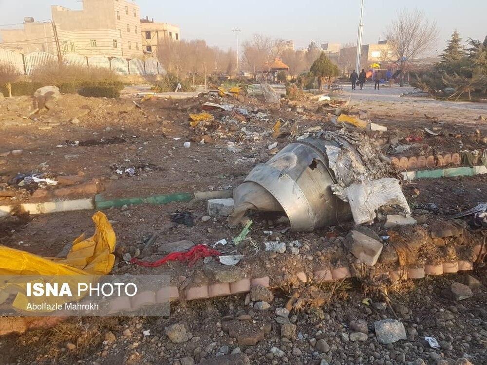 Crash Site Queda Boeing 737 Irã