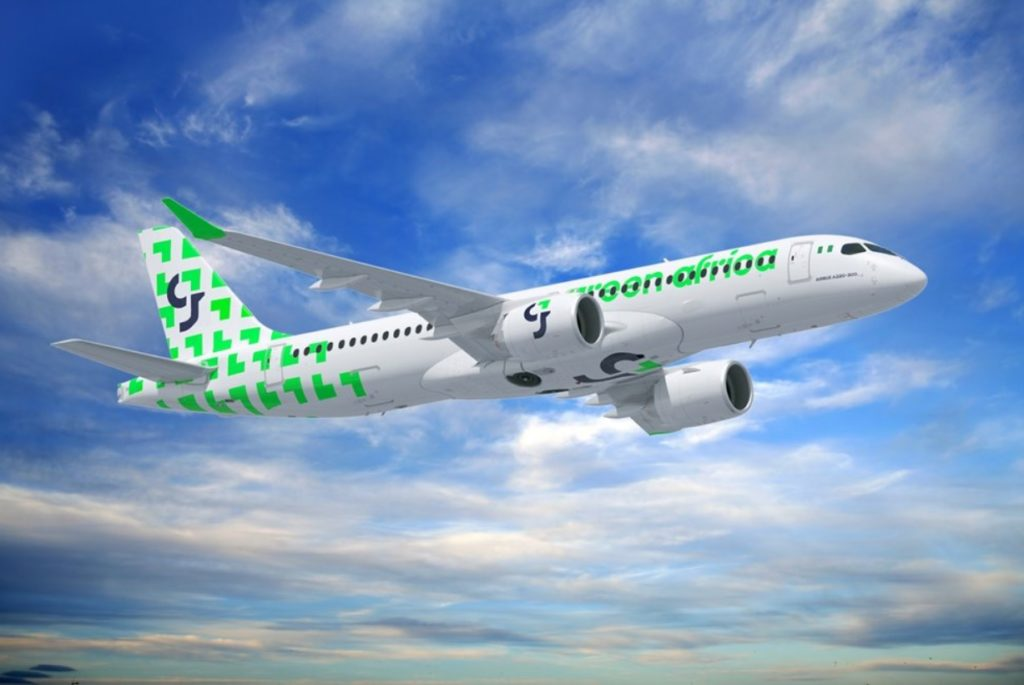 Avião Airbus A220-300 Green Africa Airways