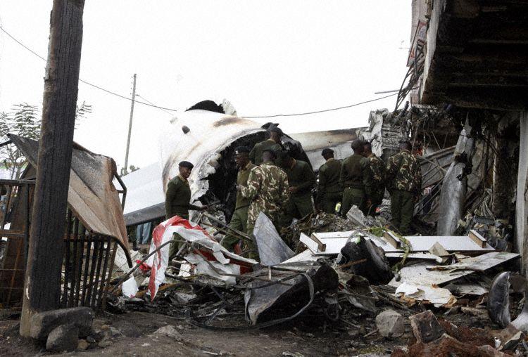 Acidente Fokker 50 Skyward Nairobi 2014
