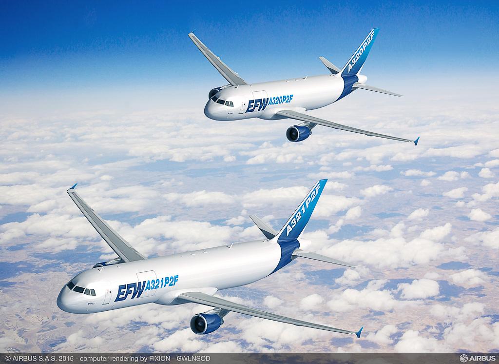 Avião Airbus A321P2F Conversão Cargueiro