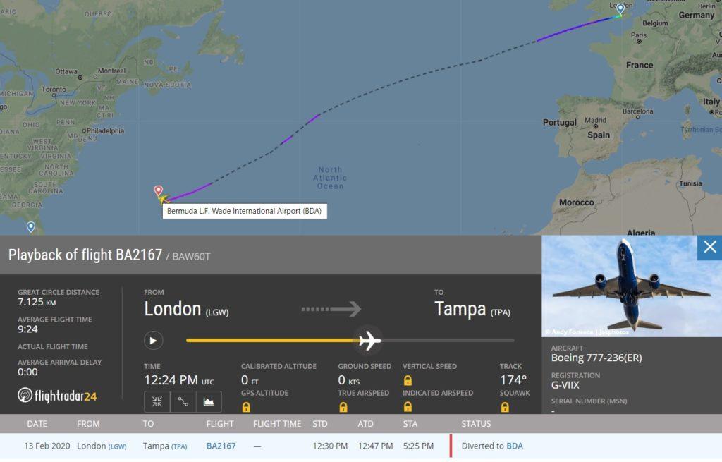 FlightRadar24 Desvio 777 Bermudas Celular Assento