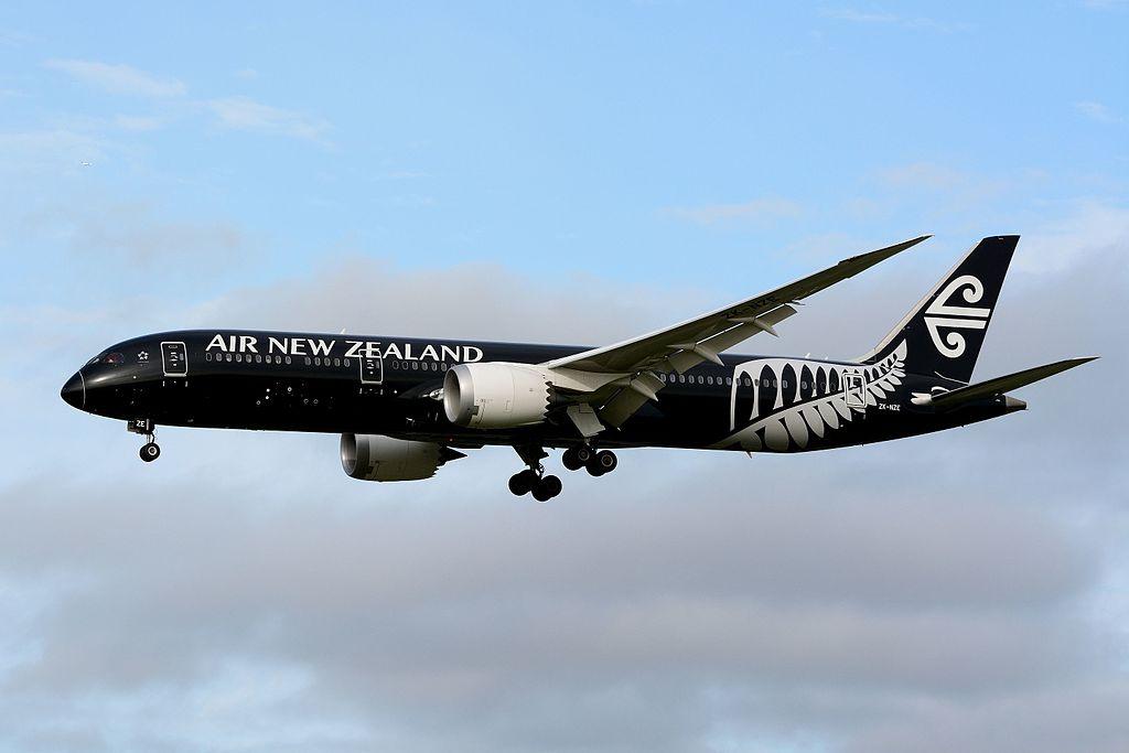 Avião Air New Zealand 787-9 ZK-NZE Preto