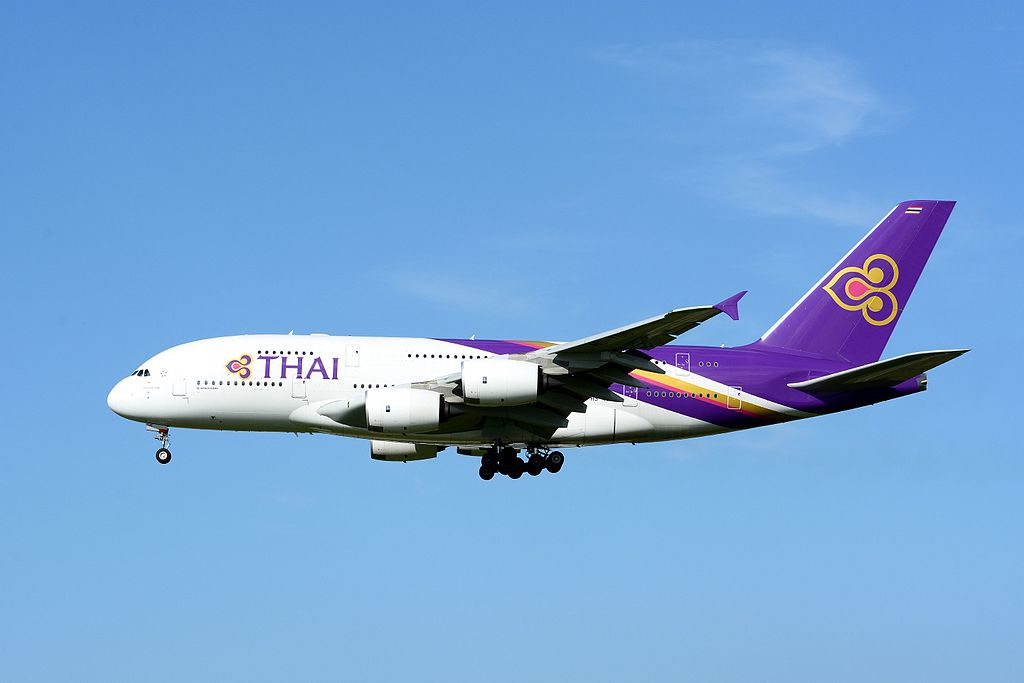 Avião Airbus A380 Thai Airways
