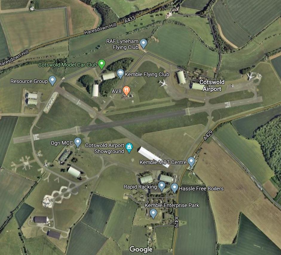Aeroporto Cotsworld Vista Aérea Google Maps