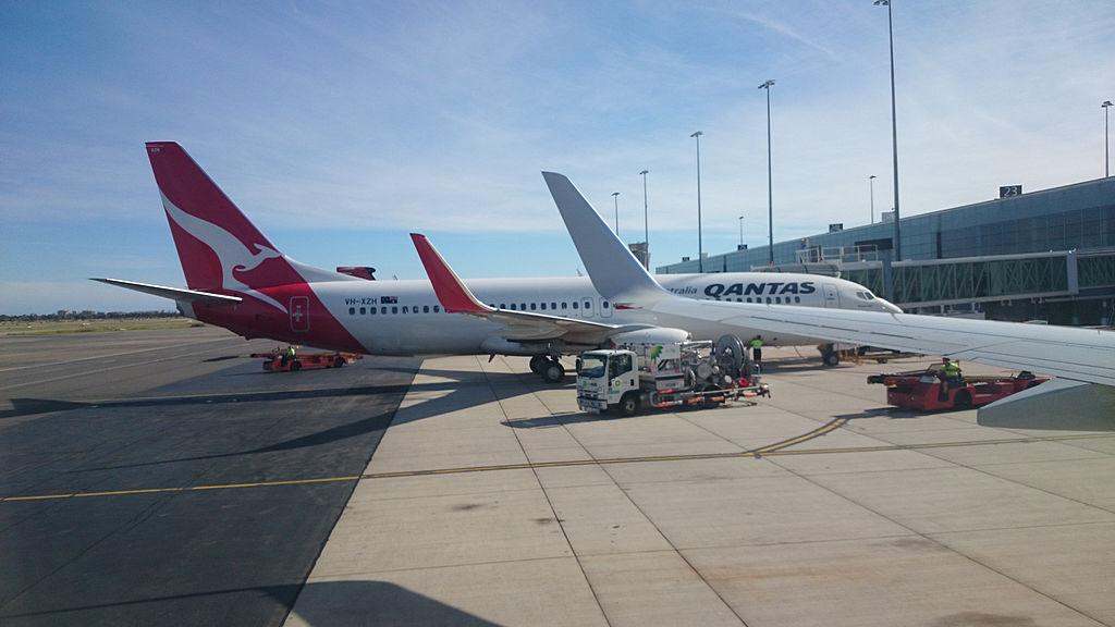 Qantas 737 Aeroporto Adelaide