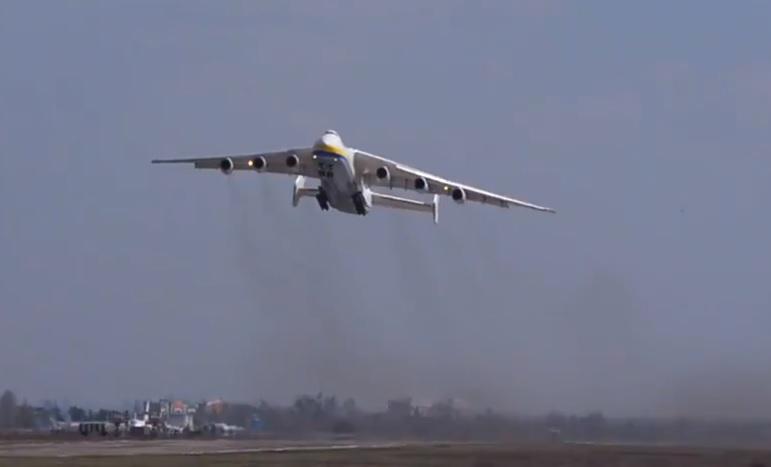 Vídeo Anotnov AN-225 Tchauzinho Decolagem