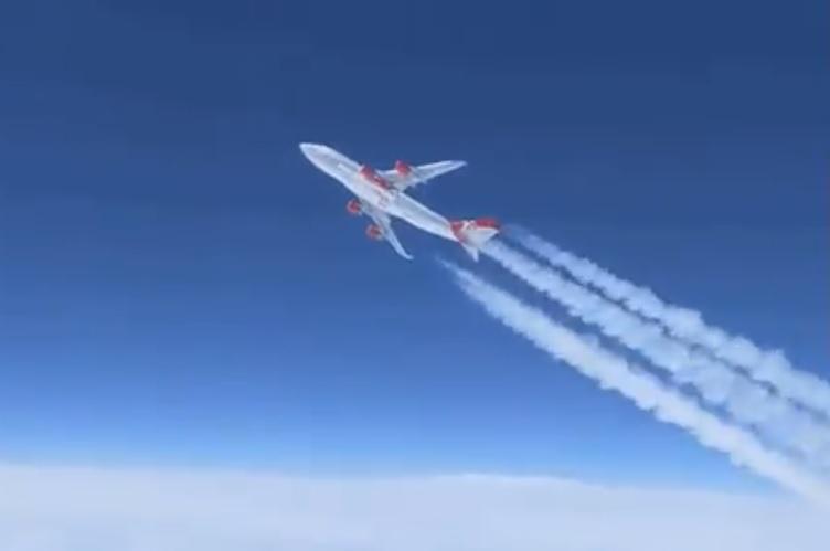 Vídeo Voo Virgin Orbit 747 Teste Lançamento Foguete
