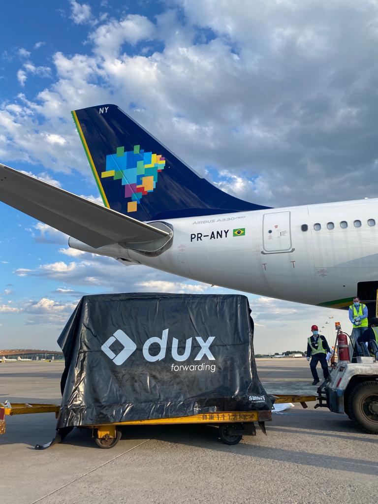 Embarque carga Dux Forwarding A330neo Azul Pequim China