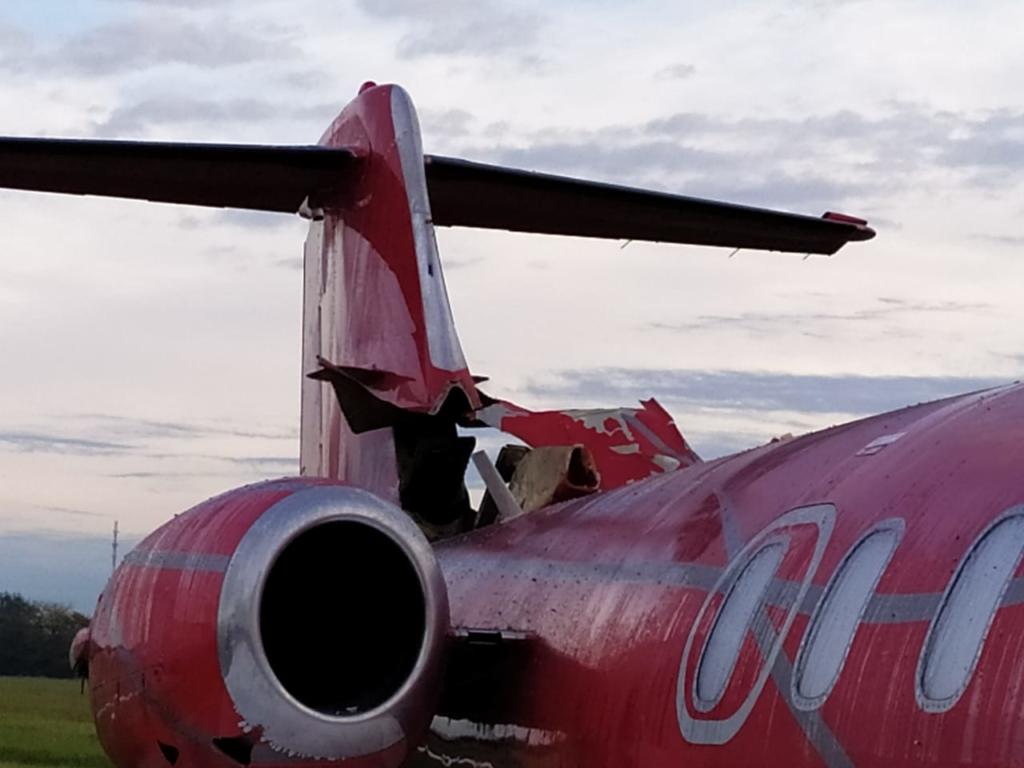 Explosão Garrafa Oxigênio Learjet 25