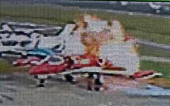 Vídeo explosão garrafa oxigênio LEarjet
