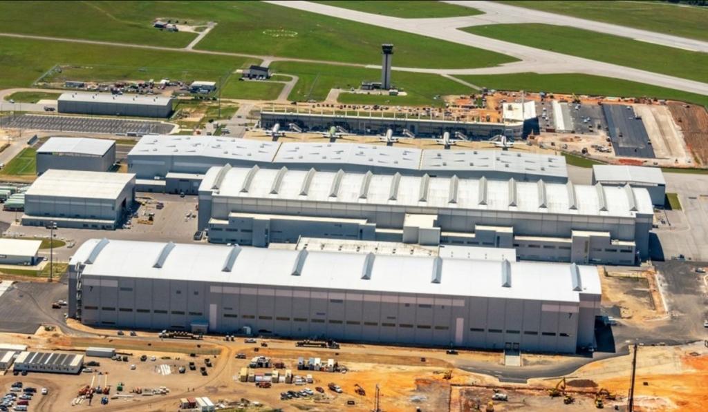 Fábrica Linha Produção Airbus A220 Mobile Estados Unidos
