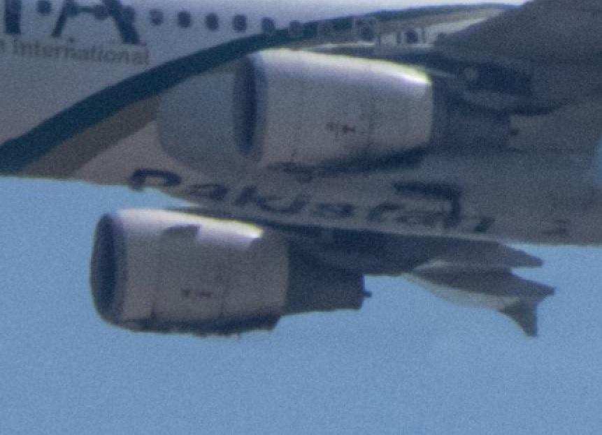 Motor sujos e danificados A320 Pakistan Acidente