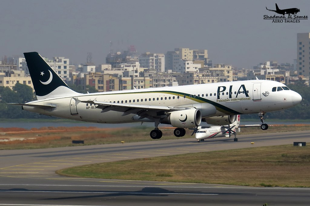 Avião Airbus A320 PIA Pakistan International Airlines