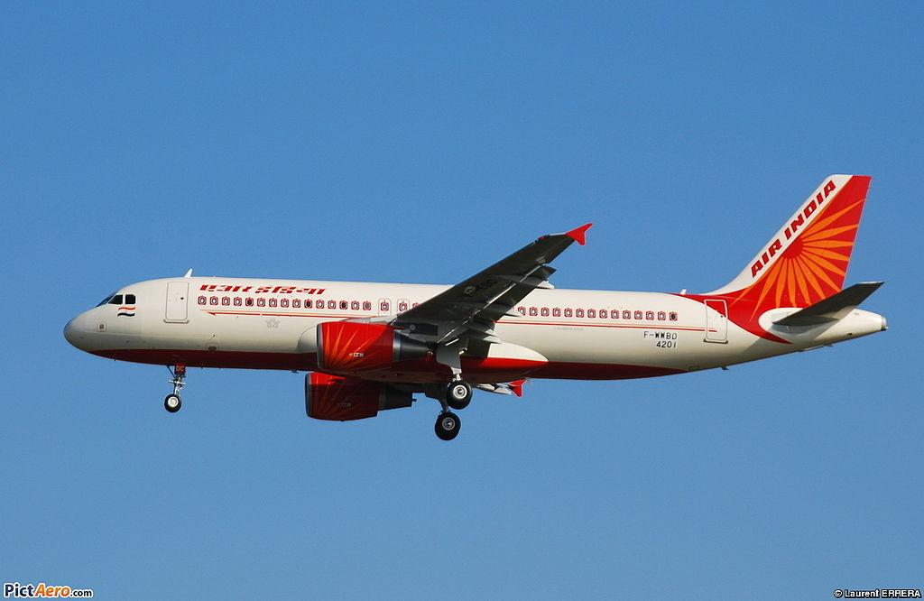 Avião Airbus A320 Air India