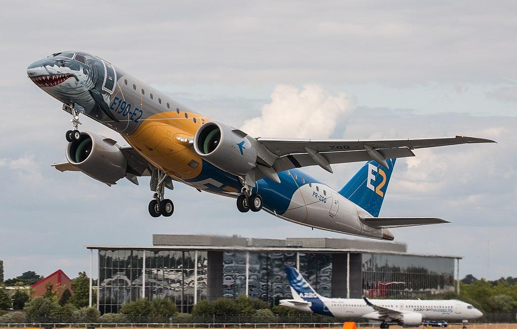 Avião Embraer E190-E2 Shark Tubarão