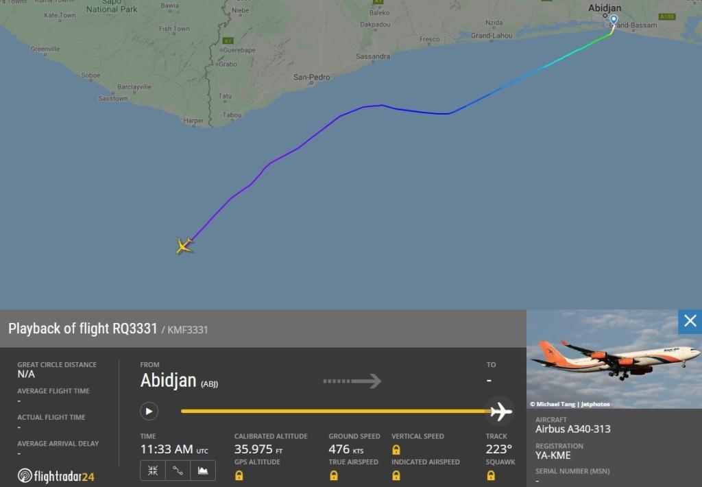 Voo Kam Air Viracopos A340-300