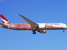 Avião Boeing 787-9 Qantas