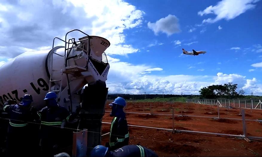 Usina Geração Energia Solar Aeroporto Brasília
