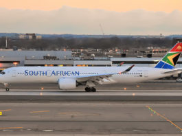 Avião Airbus A350-900 South African Airways SAA
