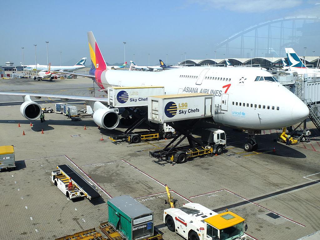 747 Jumbo Catering embarque