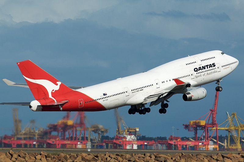 Avião Boeing 747-400 Qantas